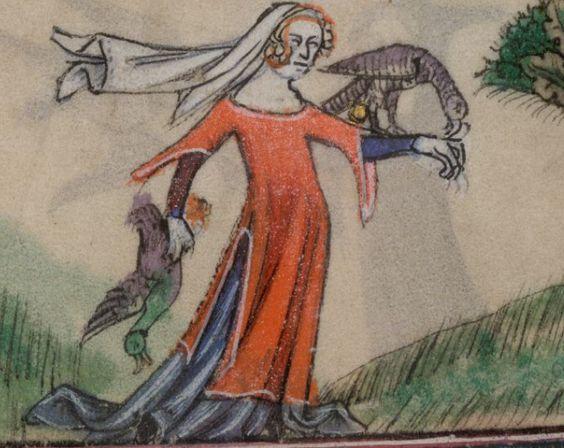 Falknerin Mittelalter
