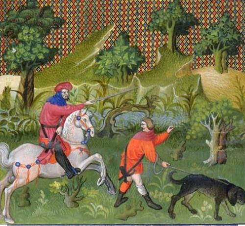 Jagd Mittelalter Hund