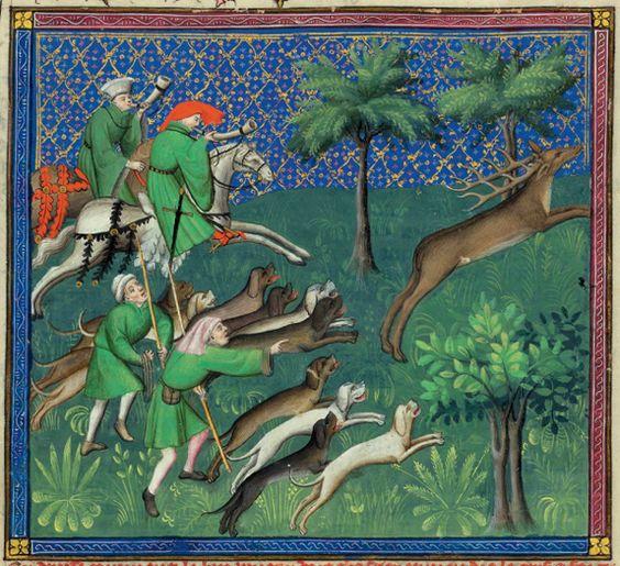 Jagd Mittelalter Rotwild