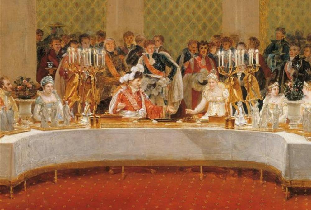 Festbankett in den Tuilerien, Gemälde v. D. Casanova, 1812