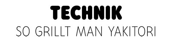 Technik-Schriftzug