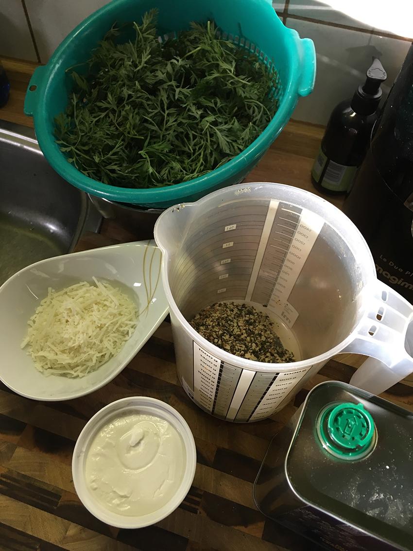 Möhrengrün-Pesto 1